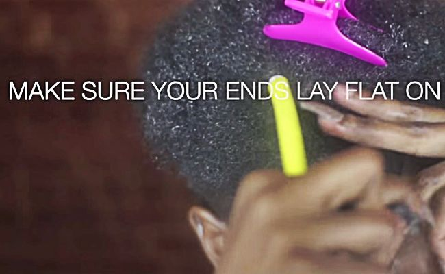make sure your ends lay flat