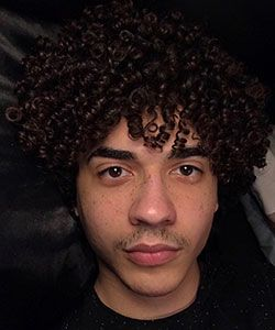 Elijah's Simple Curly Hair Routine for Men