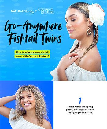 GIVEAWAY: Coconut Restore's Type 3 Tutorial Will FINALLY Make Fishtail Braids Simple