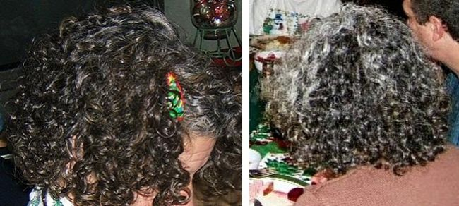 woman accepted gray curly hair 2005 2006