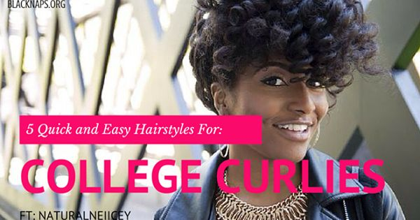 5 Super Quick Curly Hairstyles For Students