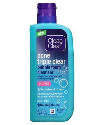 Clean & Clear Acne Triple Clear™ Bubble Foam Face Cleanser