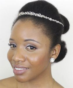 8 Long Lasting Bridal Updos For Medium-Length Type 4 Hair