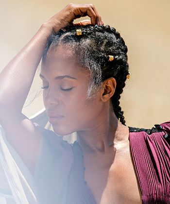 Kerry Washington's Wearing Loose Cornrows on the Cover of Allure - And We're Here For It
