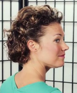 Wedding Inspired Updo For Short, Curly Hair