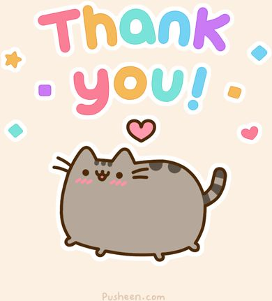 pusheen kitty cat GIF thank you