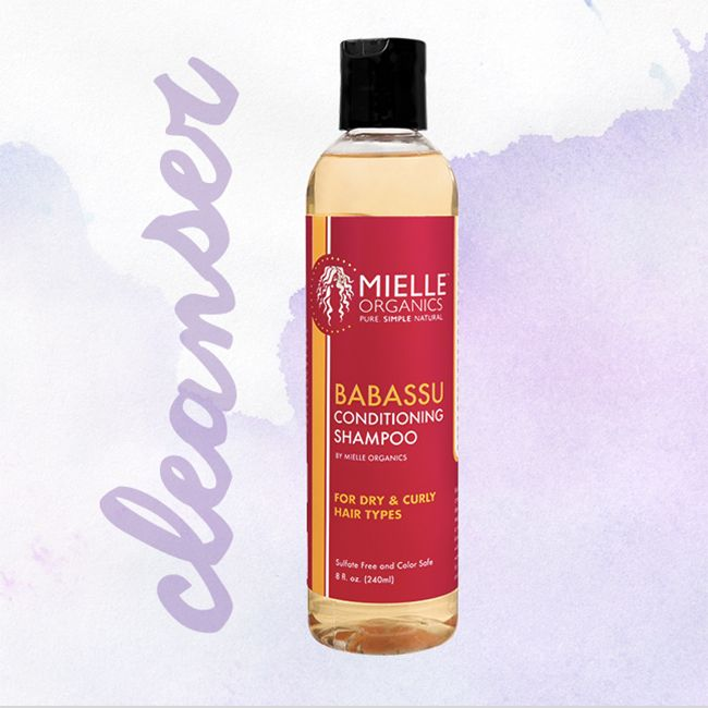bottle of mielle babassu shampoo