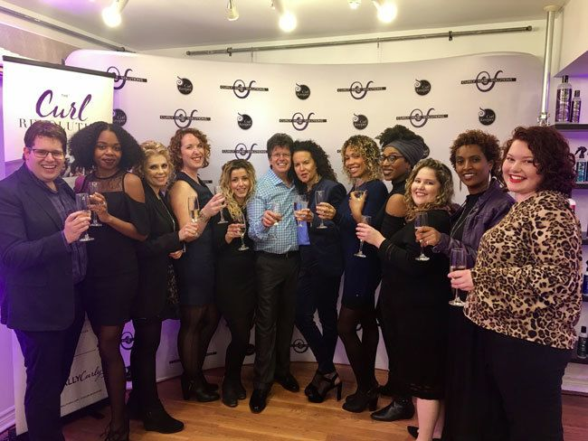 group of curly attendees at the curl revolution book tour