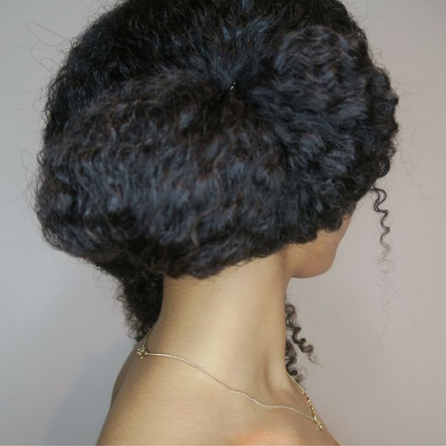Secure Curly Bun With Hairband