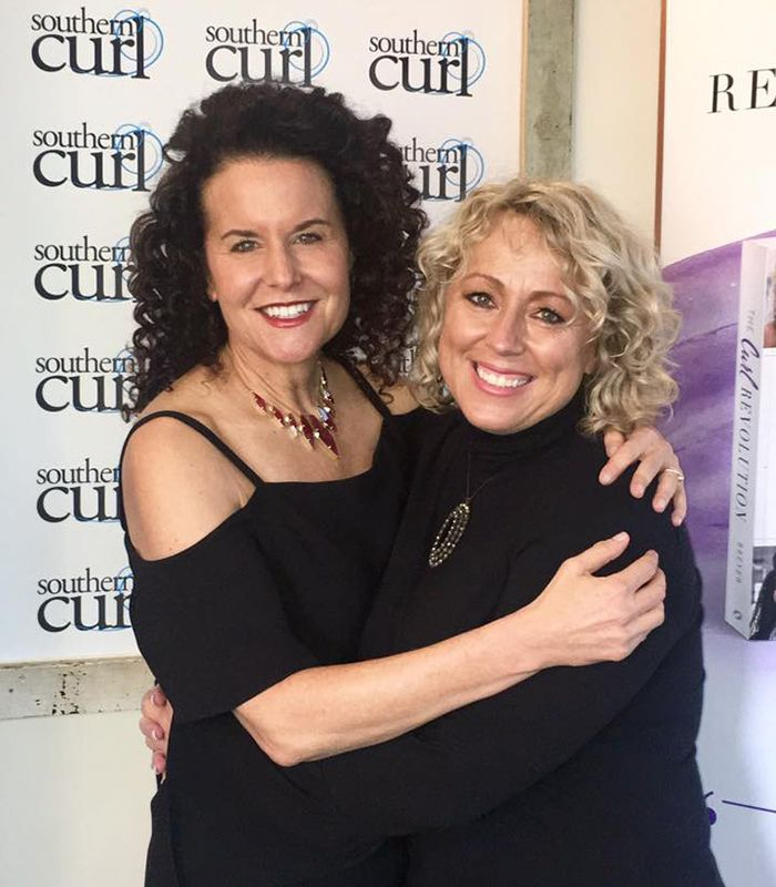 With Robin Sjoblom of Southern Curl