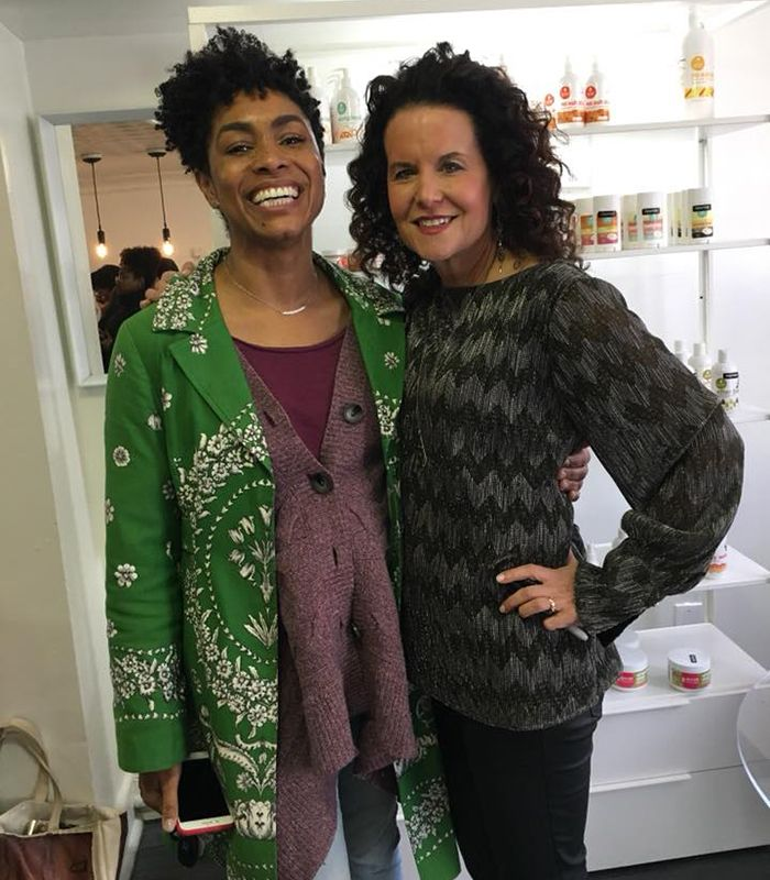 Jamyla Bennu and I at Oyin Boutique & Salon in Baltimore