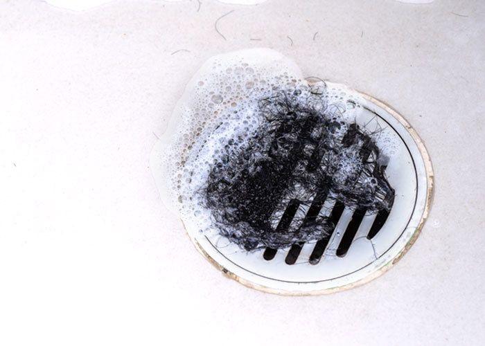 hair in drain