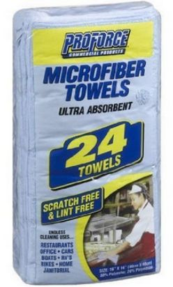 pro force microfiber hair towel