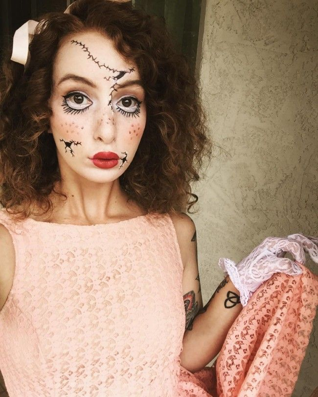 doll curly halloween costume