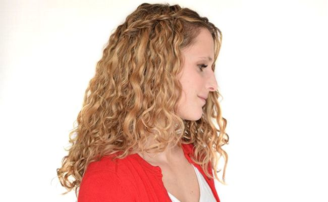 How To Do A Waterfall Braid On Curly Hair Naturallycurly
