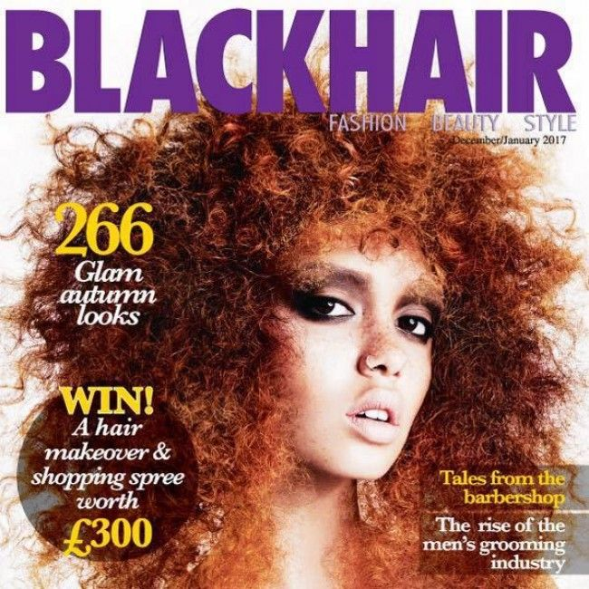 blackhair magazine cover with white model