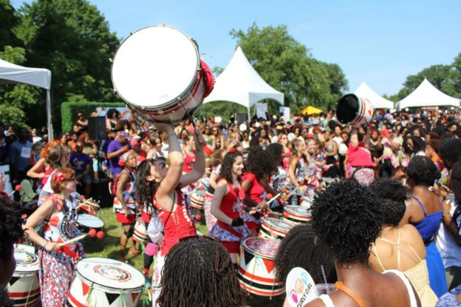 drums at curlfest 2016