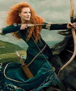 Jessica Chastain as Merida from Brave? We Can Totally See It!
