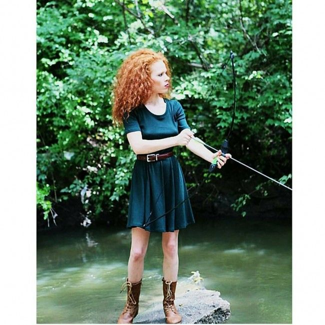 merida brave curly halloween costume