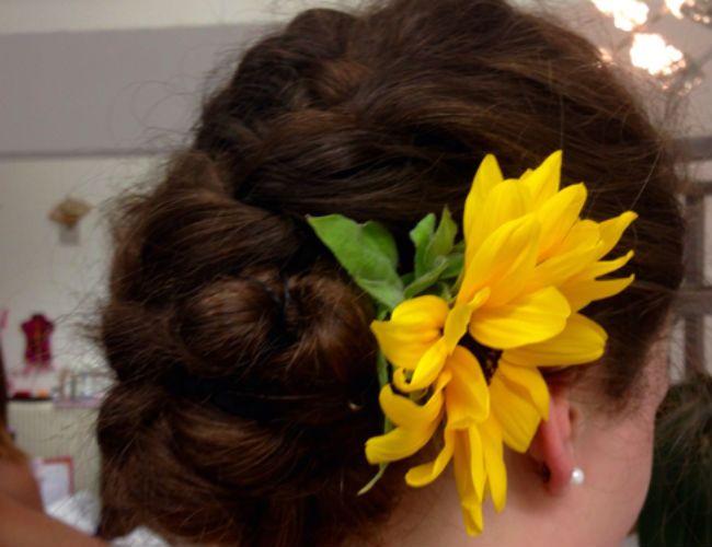 flower in hair