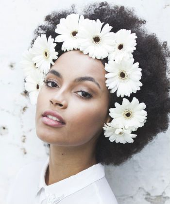 flowers in afro