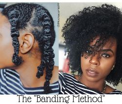 How to Stretch Your Hair with the Banding Method