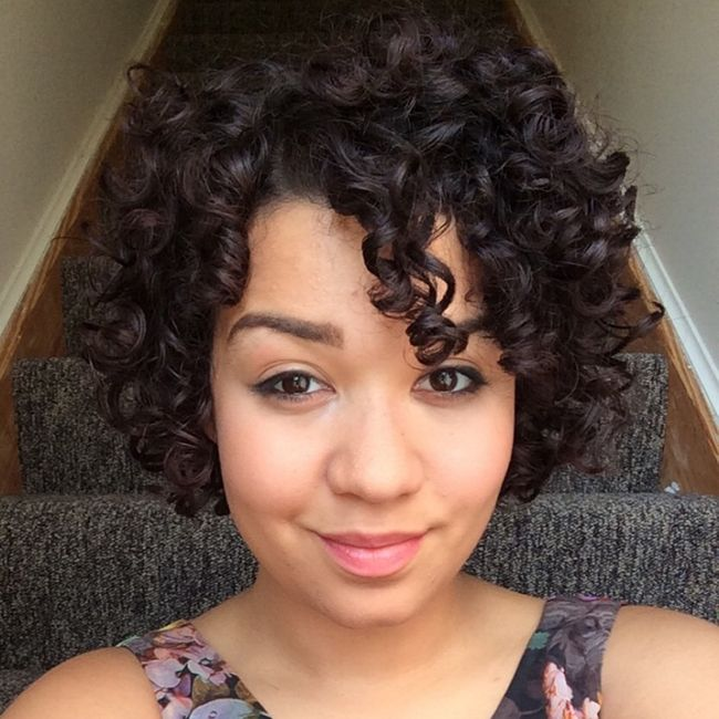 how to style short wavy hair naturally how do i pineapple my hair and 3 more faqs 1189 | CF short curly hair 650x650