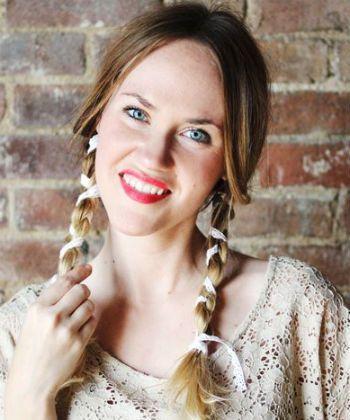 lace pigtail braids