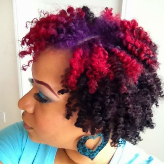 color blocked curls