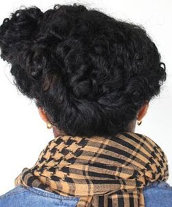 Turn Your Old Twist Out into a Heat-Free Updo