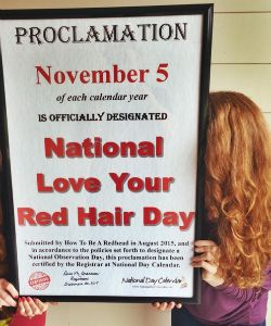 Natural Redheads Rejoice: Now There's A National Holiday Just For You