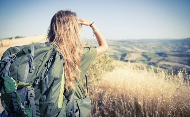 wavy hair hiking trail