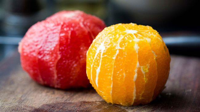 citrus fruit peeled