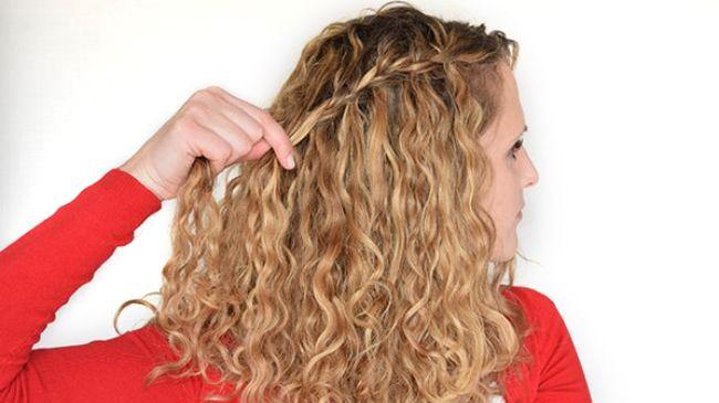 waterfall braid curly hair