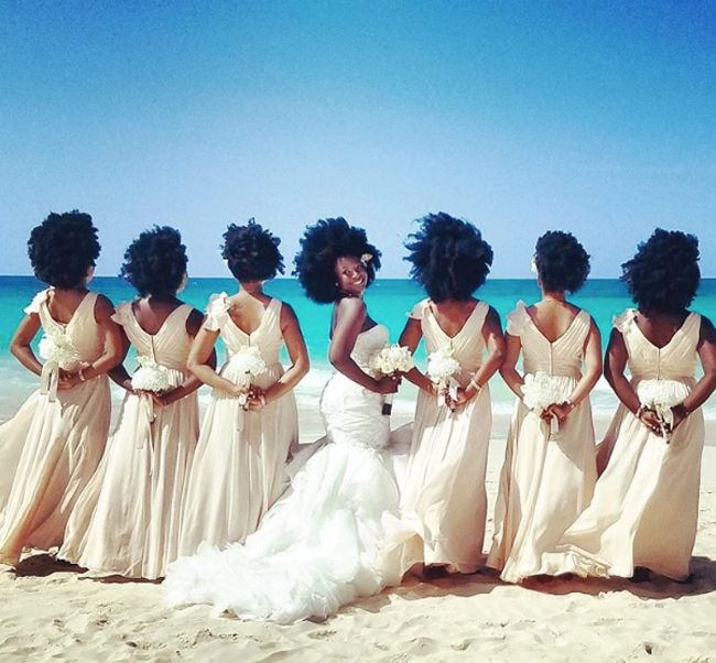 natural hair bride viral