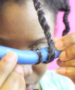How To Cheat A Bantu Knot-Out With Flexi Rods
