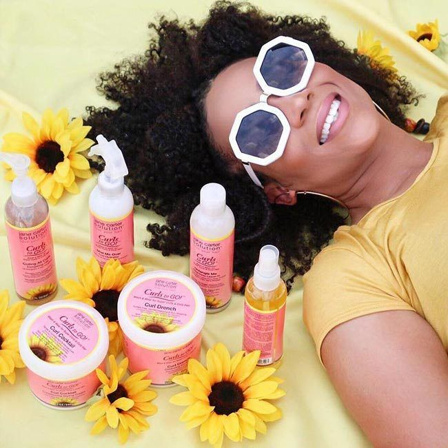 Beauty Creative and Influencer Tia Kirby loves Jane Carter Solution Curls To GO! collection