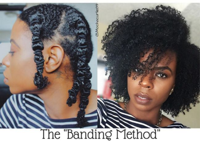 How To Stretch Your Natural Hair With The Banding Method
