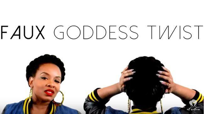 goddess braid faux twist