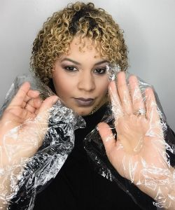 "Curlpopnhair's Top Frizz Hack: ""Apply Product With Plastic Wrap"""