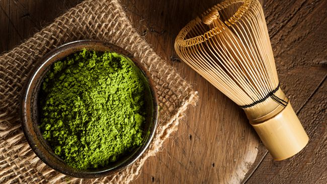 raw organic matcha green tea powder