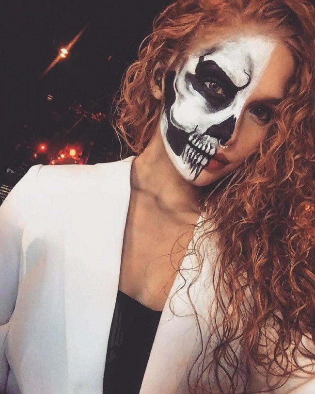 skull curly halloween costume