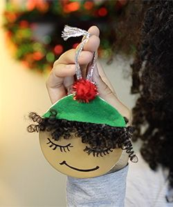 DIY Natural Hair Ornaments to Make Your Christmas Wishes Come True