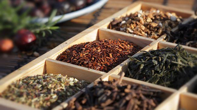 box of herbal teas for hair rinsing