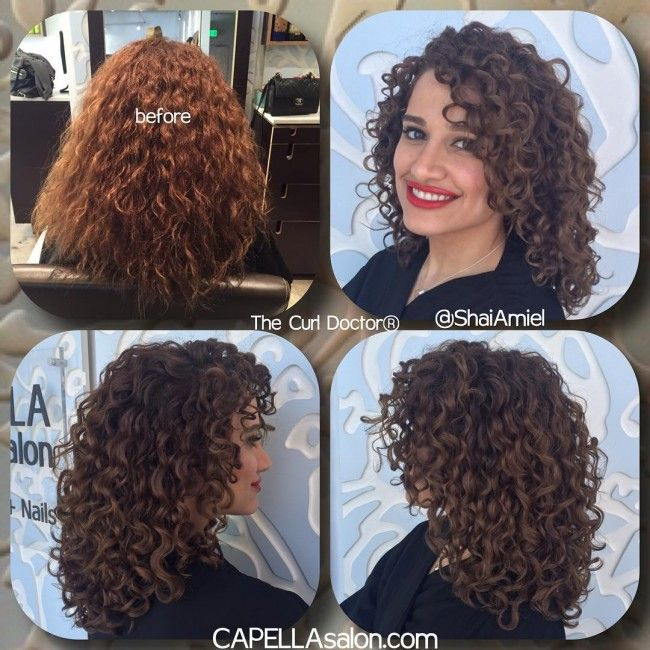 Shai Amiel Before After Curly haircut transformation