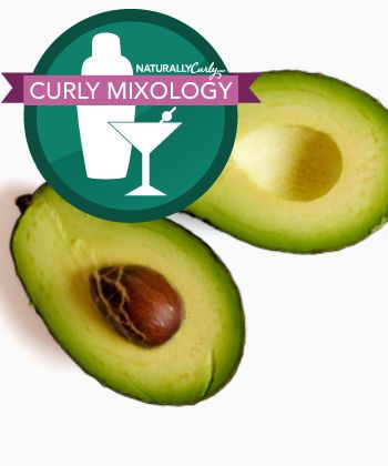 curly mixology - avocado