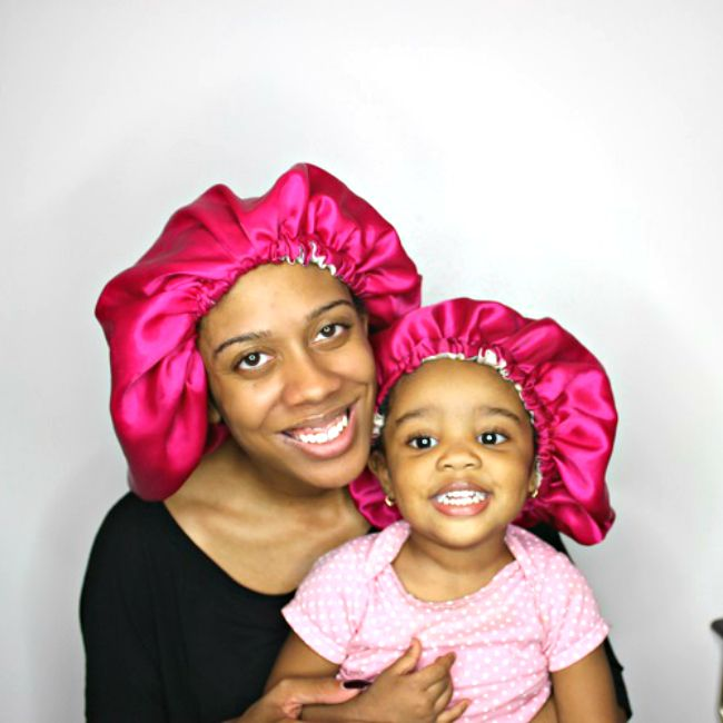 natural hair mom and child