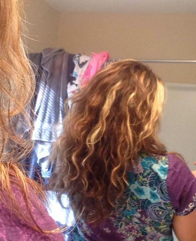 Curly Girl Method Day 2 (back)