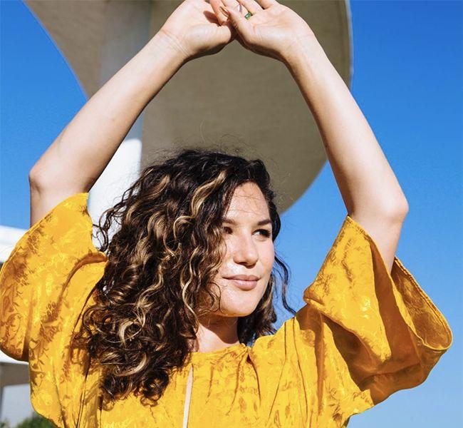 Cristina in Yellow Shirt