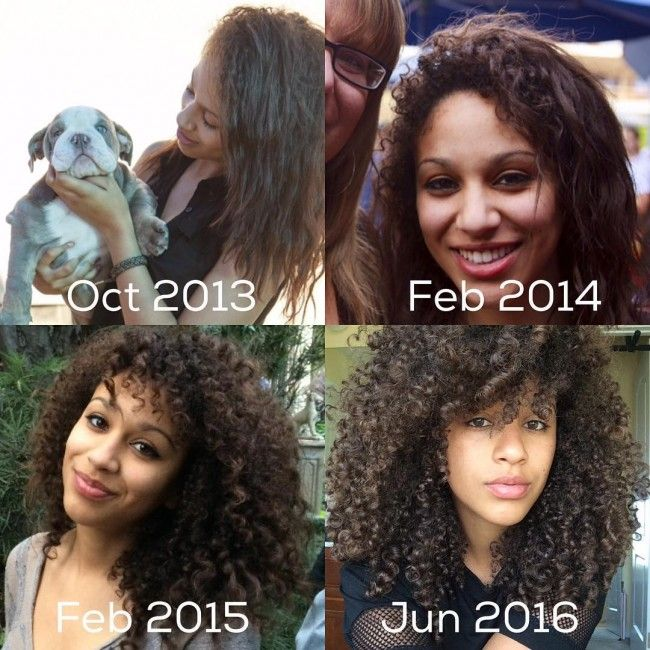 Natural hair transition to curly